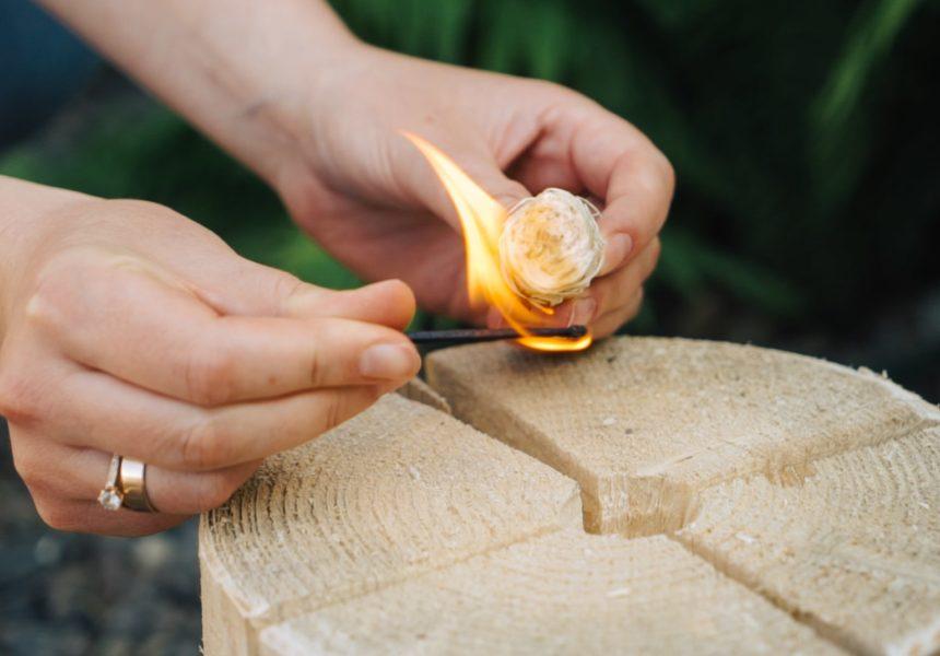 Разжигатель из древесной шерсти купить оптом
